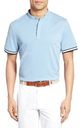 Ag Jeans Men's The Haskett Pique Polo Clear Sky