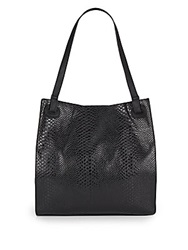 Urban Originals Python Embossed Patent Tote Bag Black