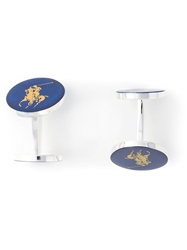 Polo Ralph Lauren Logo Detail Cufflinks Blue