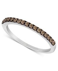 Le Vian Chocolate Diamond Pave Band 1 4 Ct. T.W. In 14K White Or Rose Gold White Gold