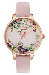 Ted Baker Women's London Round Leather Strap Watch 38Mm
