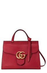 Gucci Gg Marmont Top Handle Leather Satchel