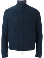 Giorgio Armani Zipped Sport Jacket Blue