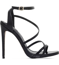 Carvela Georgia Strappy Leather Sandals Black