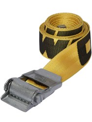Off White 2.0 Logo Industrial Tech Webbing Belt Yellow