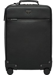 Prada Saffiano Leather Wheeled Carry On Black
