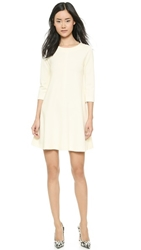 Lisa Perry Seamed Swing Dress Cream