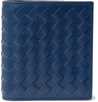 Bottega Veneta Intrecciato Leather Billfold Wallet Blue