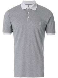 Brunello Cucinelli Shortsleeved Polo Shirt Grey