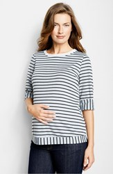 Women's Maternal America 'Sailor' Maternity Top