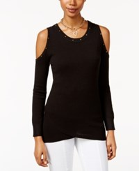 Thalia Sodi Cold Shoulder Sweater Only At Macy's Deep Black