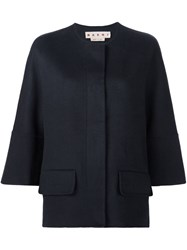 Marni Short Cape Blue