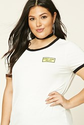 Forever 21 Plus Size Expect Delays Tee White Black