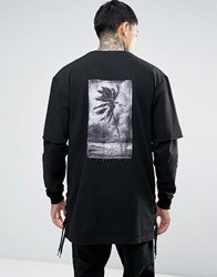 Cayler And Sons Layered Sweatshirt With Graphic Back Patch Black