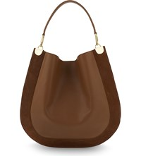 Diane Von Furstenberg Leather And Suede Hobo Whiskey