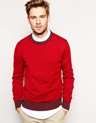 Jack Wills Jumper With Contrast Trim Red