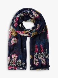 Joules Wensley Cambridge Floral Scarf Navy Multi