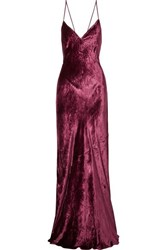 Cami Nyc The Serena Velvet Maxi Dress Burgundy