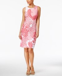 Charter Club Paisley Print Shift Dress Only At Macy's Glamour Pink Combo