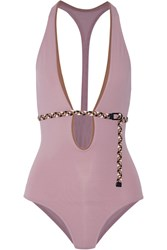 Eres Veronique Leroy Vassily Belted Swimsuit Baby Pink