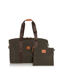 Bric's X Bag Medium Foldable Last Minute Holdall In A Pouch Olive Green