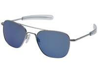 Randolph Aviator 55Mm Matte Chrome Blue Sky Flash Fashion Sunglasses
