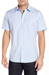 Zagiri 'You Spin Me Round' Modern Fit Jacquard Sport Shirt Light Blue