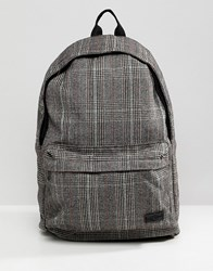 New Look Backpack In Brown Check Brown Pattern