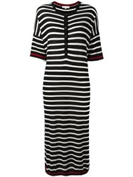 Chinti And Parker Striped Knitted Dress Black