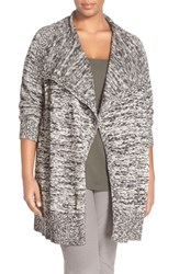 Plus Size Women's Eileen Fisher Organic Cotton And Alpaca Sweater Jacket Nordstrom Exclusive