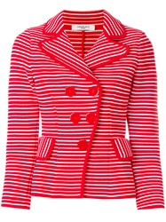 Charlott Off Centre Jacket Red