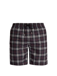 Burberry Vintage Check Print Swim Shorts Navy