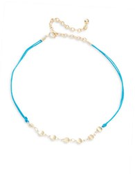 Design Lab Lord And Taylor Double Corded Chain Accented Choker Necklace Multi
