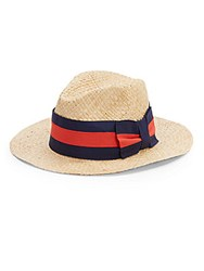 Saks Fifth Avenue Made In Italy Straw Hat Natural
