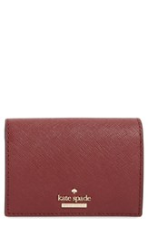 Kate Spade New York Cameron Street Annabella Leather Accordion Card Case Red Sienna Tusk