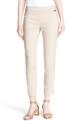 Women's Tory Burch 'Callie' Seamed Crop Pants White