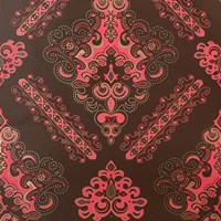 Flavor Paper Valencia Wallpaper Sample Swatch Conch On Champagne Mylar Sample