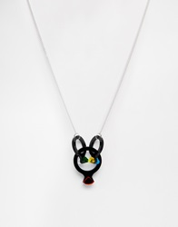 Tatty Devine Cocktail Ring Necklace Black
