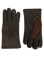 Etro Shearling Gloves Grey