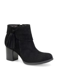 Born Mauvide Suede Ankle Boots Black