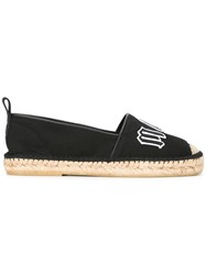 Mcq By Alexander Mcqueen Logo Patch Espadrilles Women Leather Canvas Rubber 44 Black