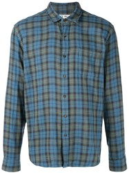 Alex Mill Spring Plaid Double Gauze Shirt Blue