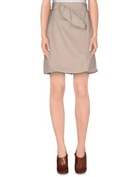 Francesco Scognamiglio Skirts Knee Length Skirts Women Beige