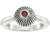 King Baby Studio Ribbed Sphere Ring W Ruby Silver Ruby Ring