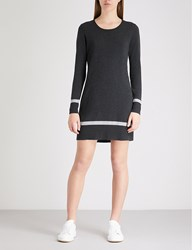 The White Company Striped Knitted Tunic Dress Darkcharcmarl