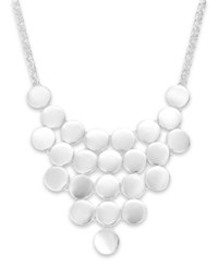 Styleandco. Style And Co. Silver Tone Circle Bib Necklace
