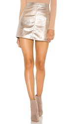 Cupcakes And Cashmere Keller Mini Skirt In Metallic Silver. Silver Toffee