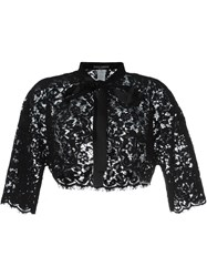 Dolce And Gabbana Floral Lace Bolero Jacket Black