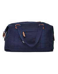 The Idle Man Vintage Overnight Bag Navy
