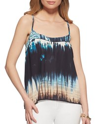 Jessica Simpson Minette Printed Sleeveless Top Blue